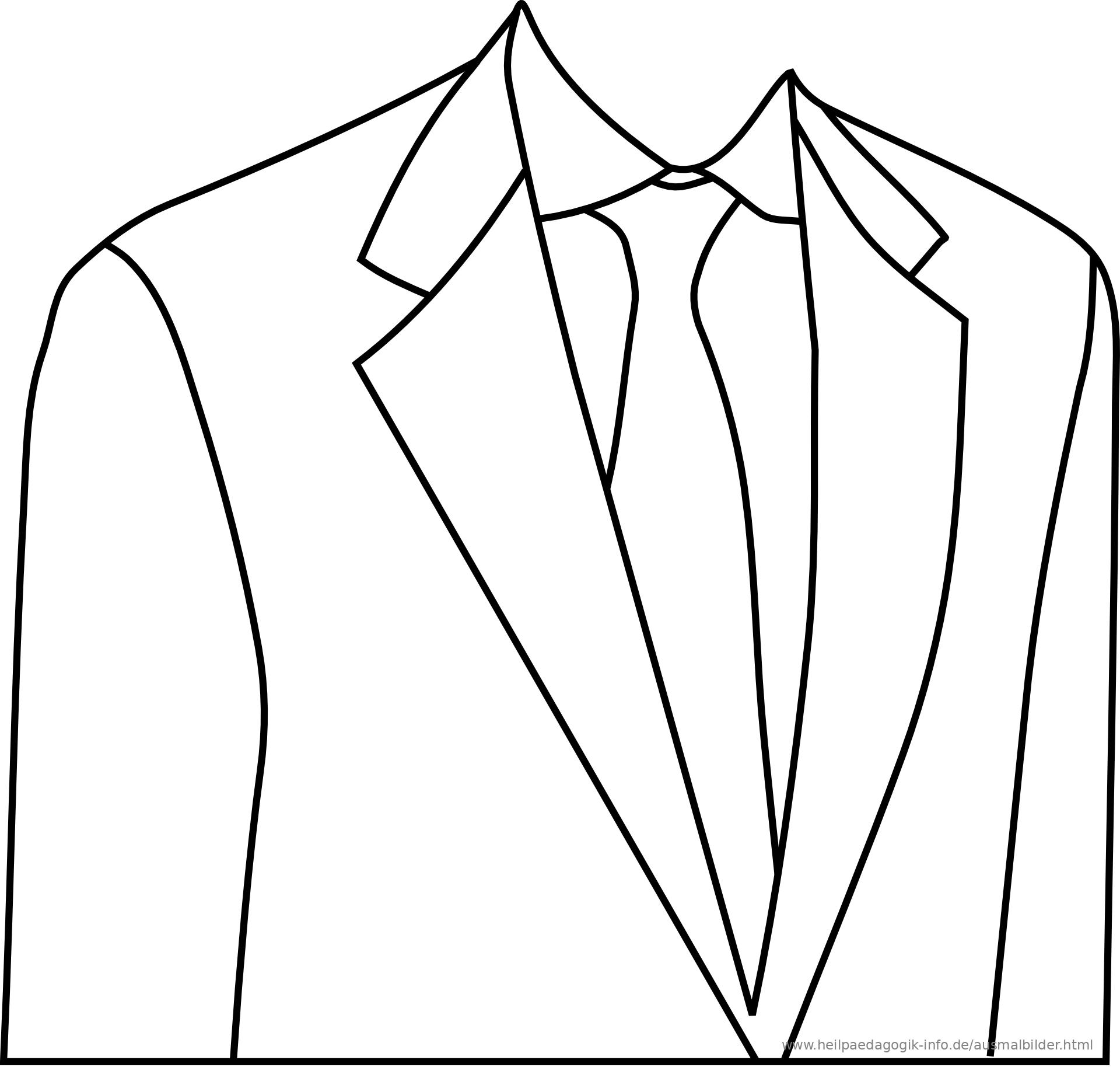 Ausmalbilder Kleidung