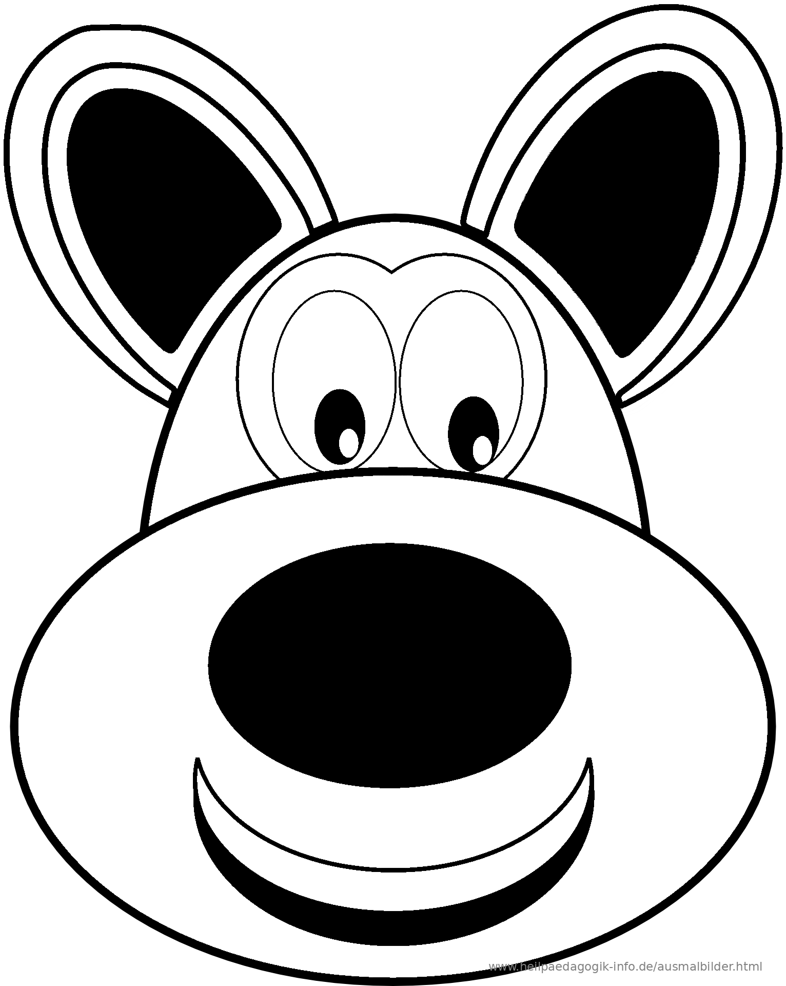 Ausmalbild Hund Als PDF oder PNG anzeigen
