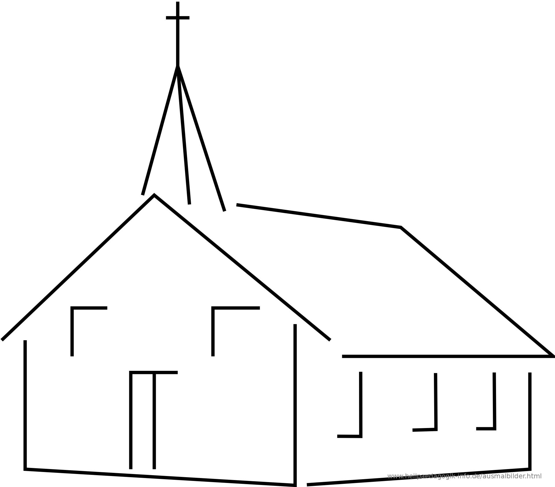 Ausmalbild Malvorlage Kirche Ausmalbild Kirche Als PDF oder PNG anzeigen