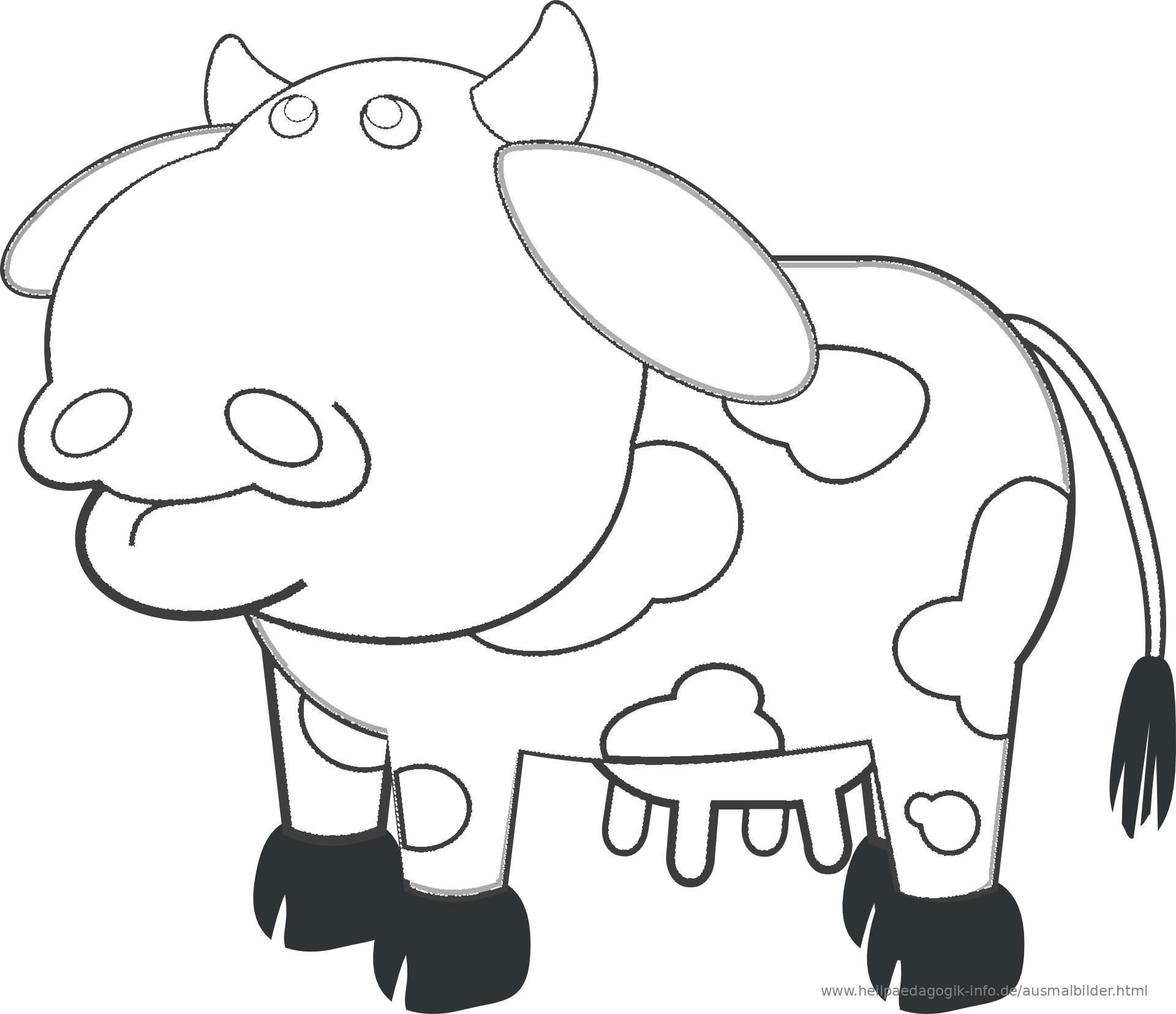 Ausmalbilder Kühe