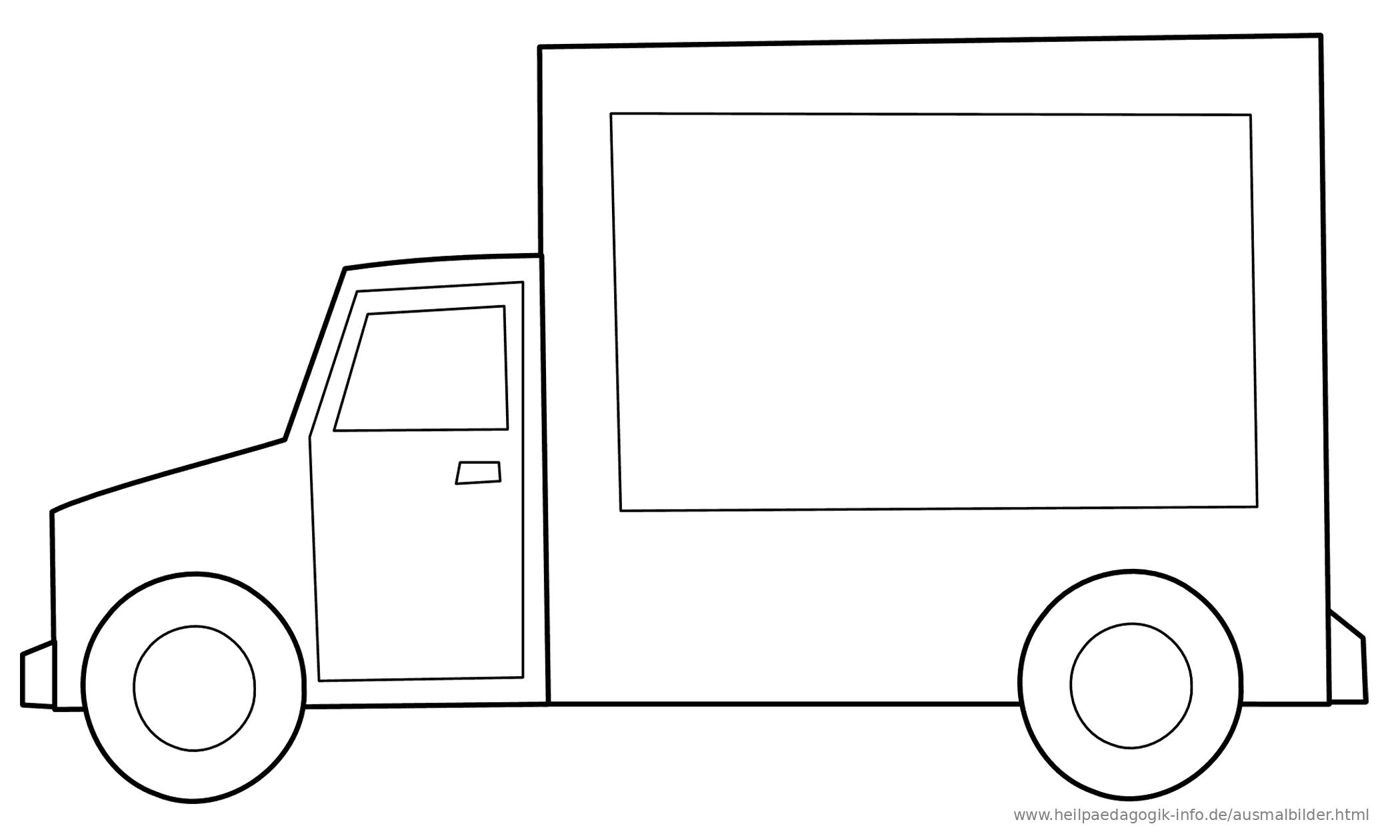 Ausmalbilder Lkws Trucks