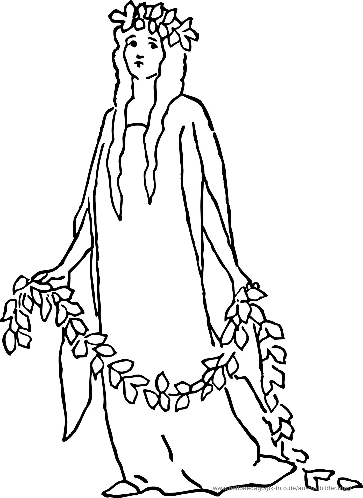 Ausmalbild Prinzessin Als PDF oder PNG anzeigen
