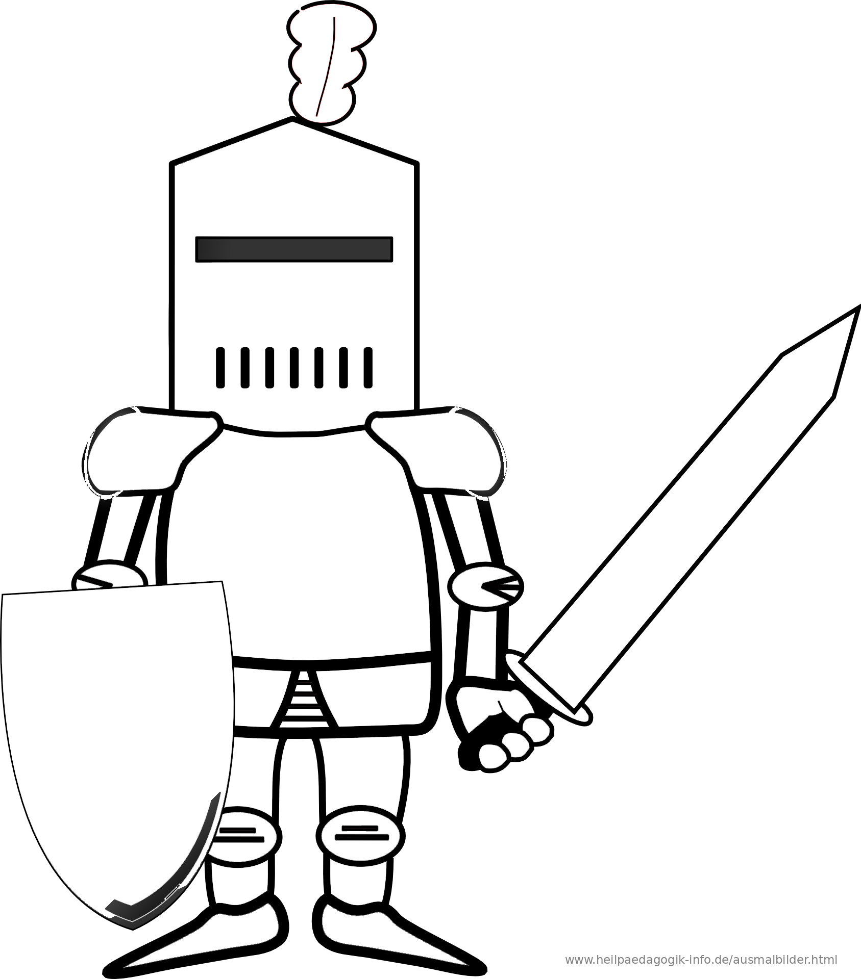 Ausmalbild Ritter Als PDF oder PNG anzeigen