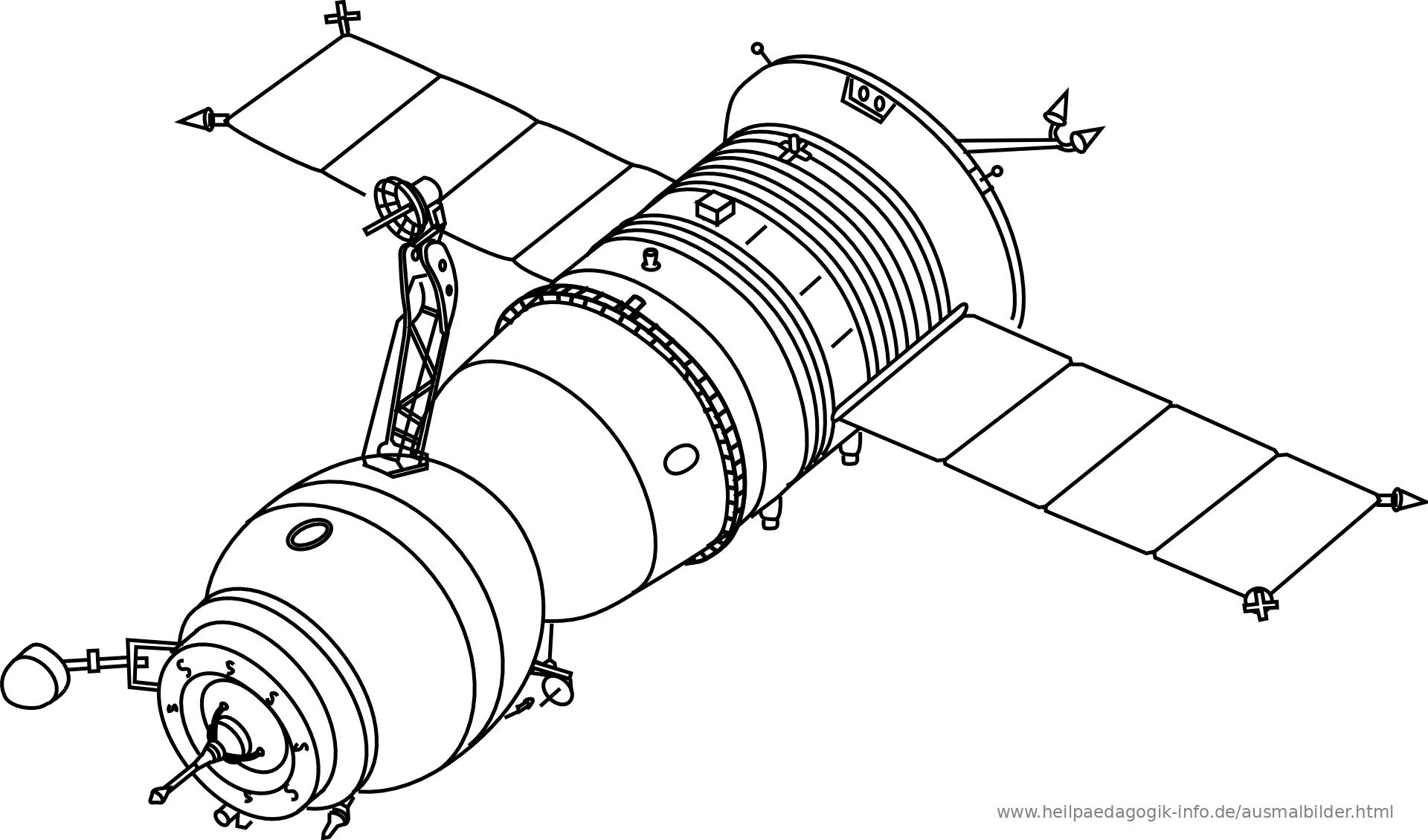 Ausmalbilder Raketen Und Weltall