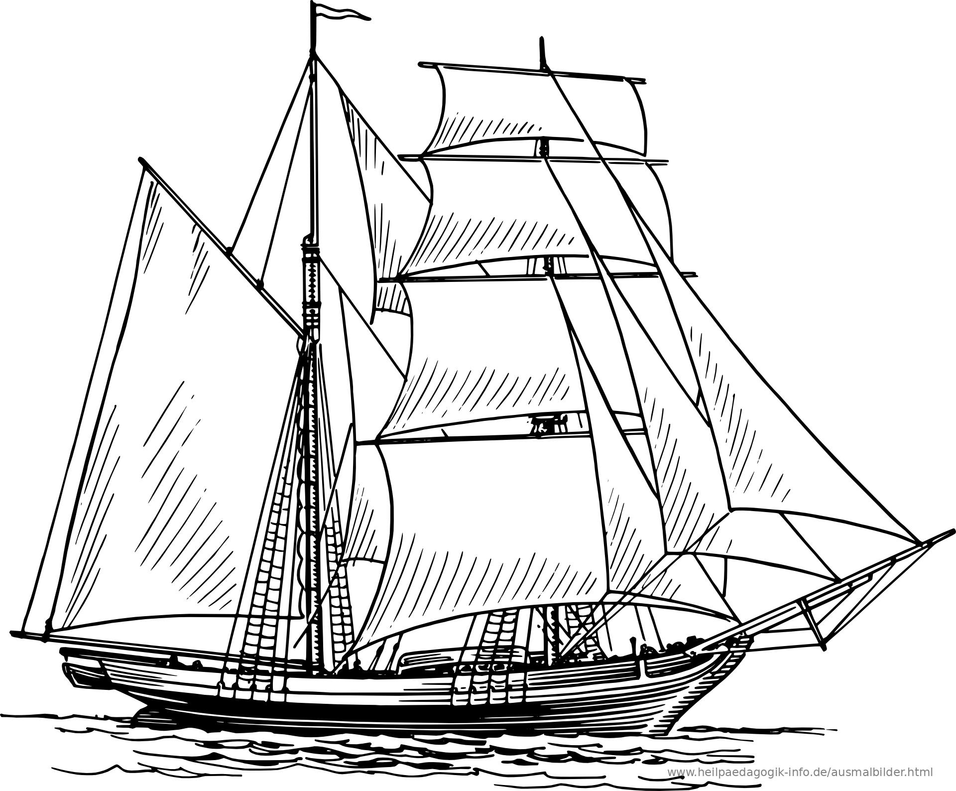 Ausmalbilder Schiffe Und Boote