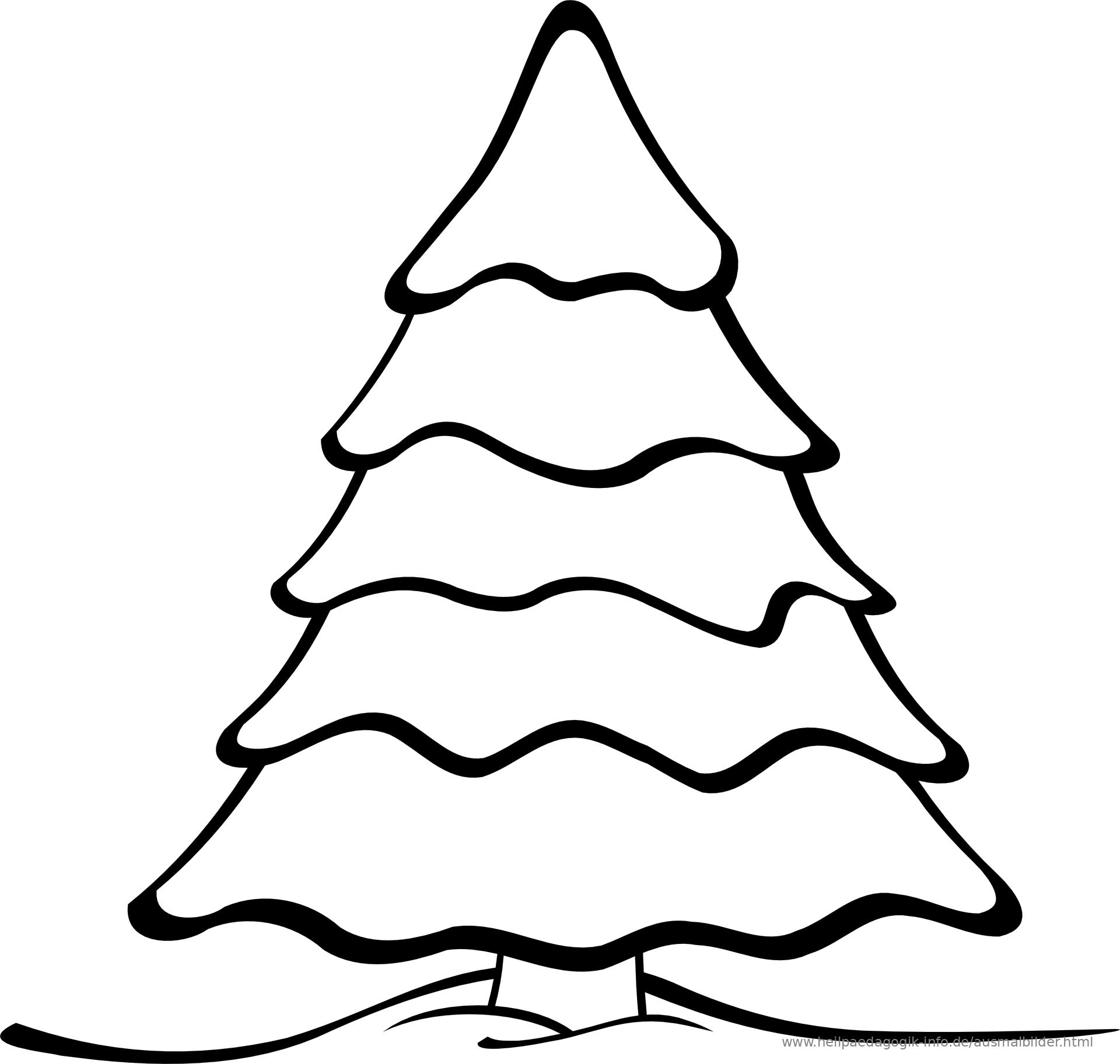 Malvorlage Tannenbaum.Ausmalbilder Weihnachten