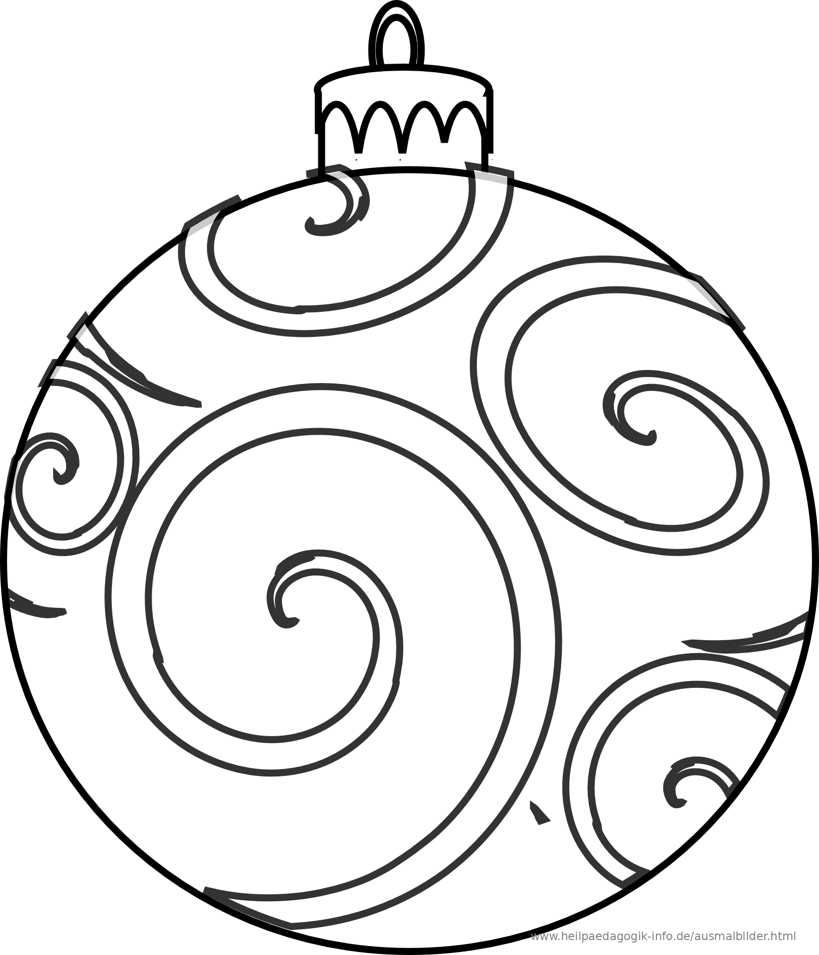 coloring pages christmas baubles clip - photo#14
